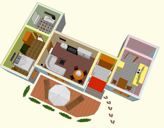 Hahn Ferienwohung Zimmerplan